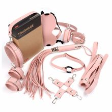 10 Pcs Bdsm Bondage Set Sex Toys For Couples Exotic Accessories Sexy Leather Handcuffs Whip Breast Belt Adult Products Pink products sexshop 3 pcs set male chastity belt sexy sex toys bdsm bondage restraint set sextoys adult sex game tools for couples