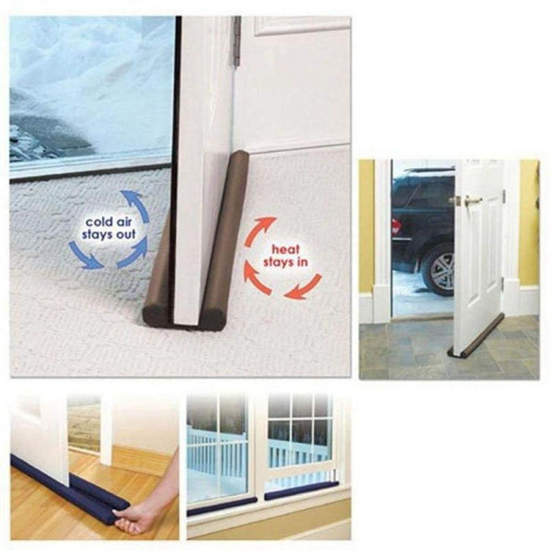 SH-RuiDu Twin Door Draft Dodger Guard Stopper Protector Home Under Door Draught Excluder