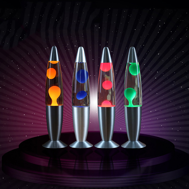 Dozzlor Lava Lamp Decorative Jellyfish Light Bedroom Night Lights Bedside Lamp Home Decorations High Brightness Aluminium Alloy