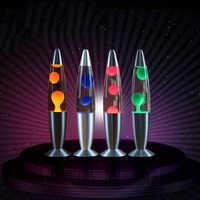 Dozzlor lampe à lave décorative méduse lumière chambre veilleuses lampe de chevet décorations pour la maison haute luminosité alliage d'aluminium