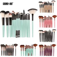 100 pieces bag color blue can use again plastic soft brushes mini eye lash brush lashes lift cilia beauty makeup brush cleaner 18 Pieces Eye Makeup Brushes Set Makeup Tools Cosmetic Brushes Foundation Brush Makeup Brush Sets Makeup Organizer