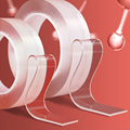 1 м/3 м/5 м нано-лента Двусторонняя лента прозрачная не оставляющая следов многоразовая водонепроницаемая клейкая лента очищаемая домашняя ...