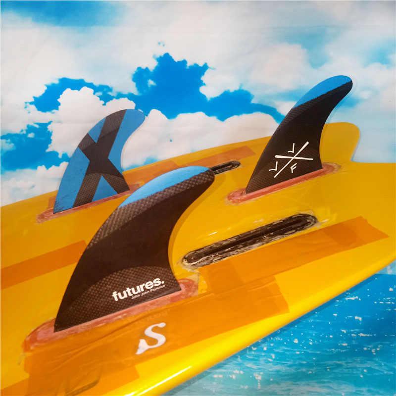 """Barbatanas de prancha de surf plug futuro """"john john florence"""" tri fin conjunto fibra de vidro barbatanas surf board barbatanas thruster tamanho grande"""