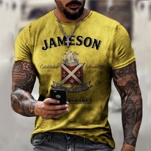 Fashion Letter Print 3D T Shirt Men Street Clothes Oversize Mens Short Sleeve Casual Tees Summer Breathable Male T Shirts