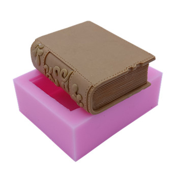 Book Design Soap Mold Silicone Mold for Soap Cake Jelly Molds Candle Wax Molds Gypsum Resin Craft Mould