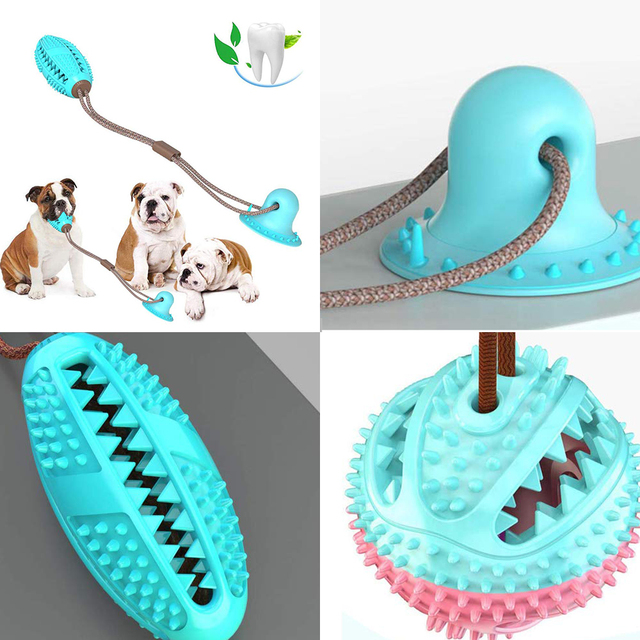 Pet Dog Toys Silicon Suction Cup Tug  3