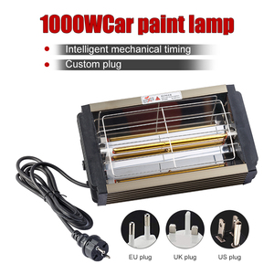 Image 2 - 1000W Car Paint Curing Drying Lamp Car Body Infrared Paint Lamp Handheld Halogen Heater Light Shortwave Infrared Lamp