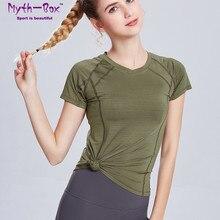 Yoga Shirts Women Running T Shirt V-Neck Short Sleeves T-shirts Woman Thin Slim Quick Dry Sport Tops Gym Fitness Training Blouse