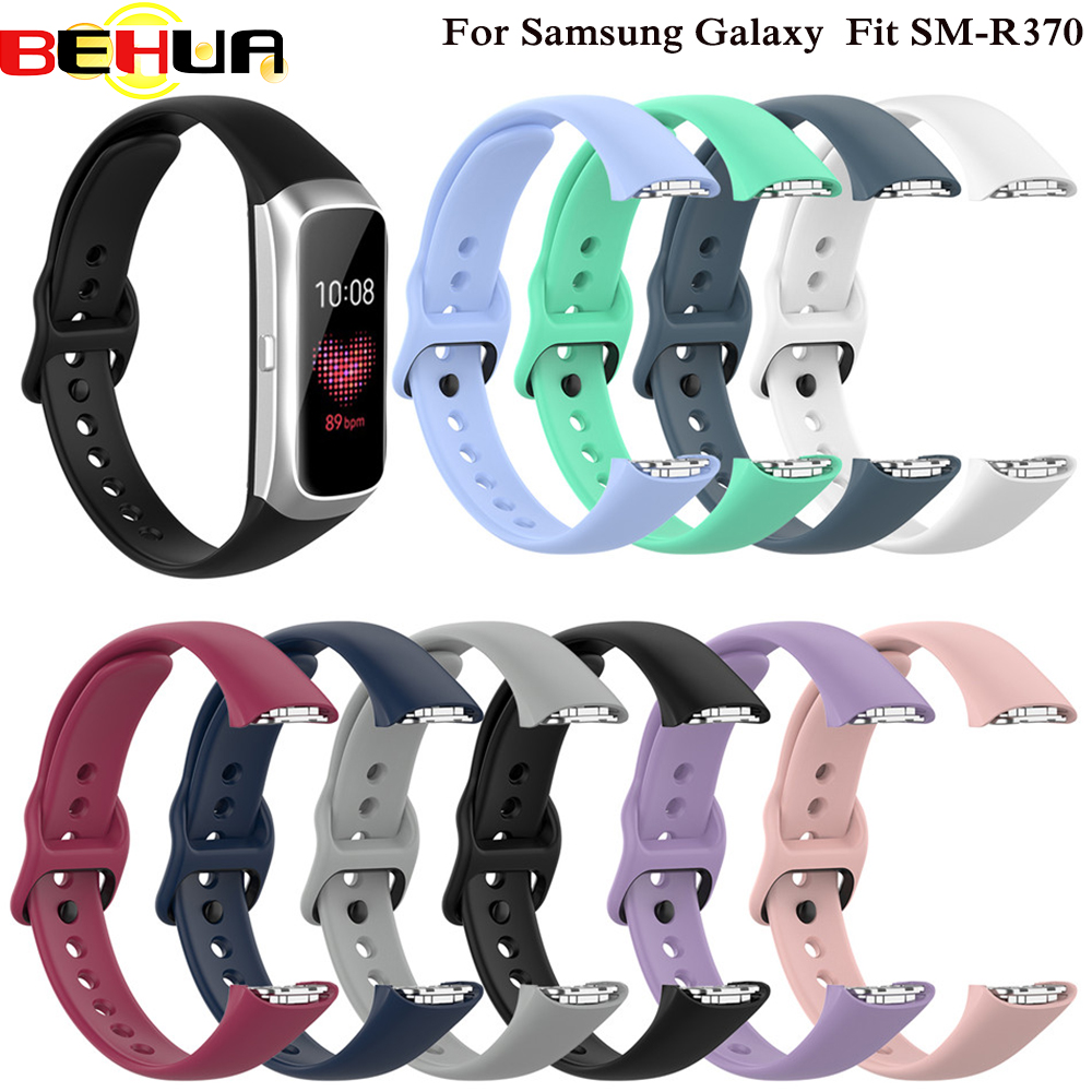 Silicone Sport Watch Band Strap Wrist Band Strap For Samsung Galaxy Fit SM-R370 SM R370 Smart Bracelet Watch Strap Accessories