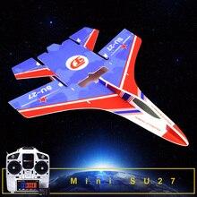 Rc фиксированная модель крыла Mini Su27 RC самолет с микрозоны MC6C передатчик с приемником и конструкцией частей для DIY RC самолета