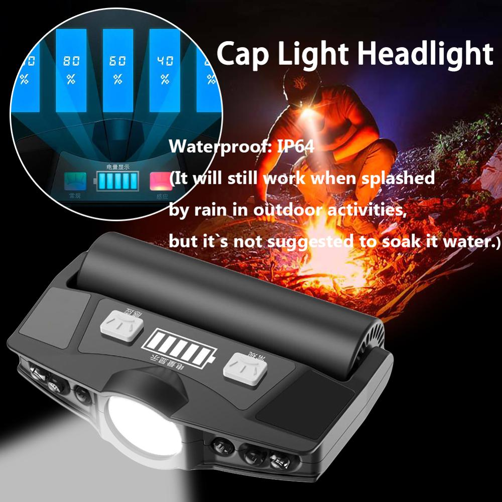 Rechargeable Clip On LED Head Cap Hat Light HeadLamp Headlight Outdoor Hiking