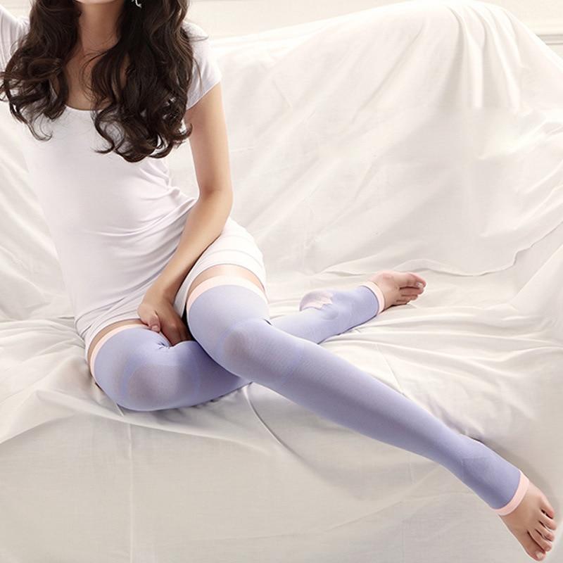 Women Anti-varicose Socks New Japanese Korean Style 420D Over Knee Legs Pressure Socks Curve Elastic Slim Sleeping Socks