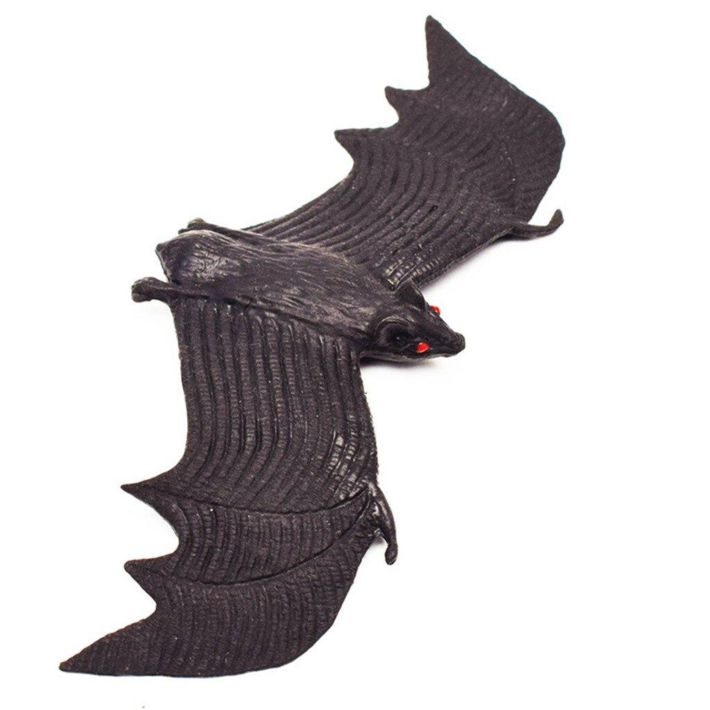 4 pçs halloween simulação animais morcegos truque brinquedo halloween decoração horror casa morcego pendurado adereços casa decoração da janela de parede