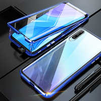 magnetic flip case for huawei y9s 2020 360° double-side tempered glass metal bumper back cover on hauwei y 9 s 9s stk-l21 6.59''