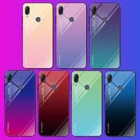 Para Asus Zenfone Max Pro (M1) ZB601KL ZB602KL gradiente funda de vidrio templado para teléfono para Asus Max Pro M1 X00TD cubierta protectora trasera