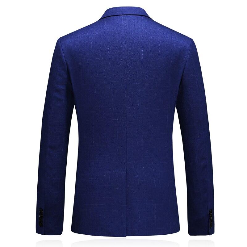 MarKyi 2019 осенний однокнопочный мужской бейзер пиджак классический мужской плюс размер 5xl slim fit костюм, пиджак в клетку для мужчин - 3