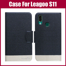 Лидер продаж! Чехол Leagoo S11, 5 цветов, ультратонкий Модный Цветной кожаный защитный чехол для телефона Leagoo S11