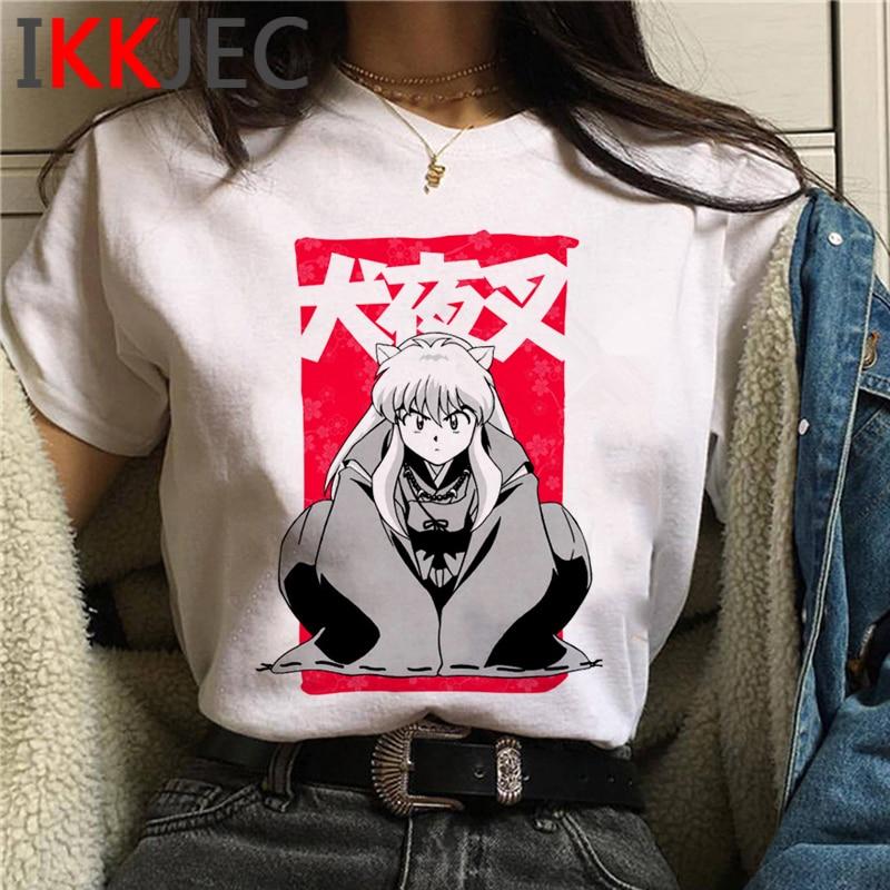 Feudal Demon Inuyasha T-Shirts Men Sesshoumaru Higurashi Kagome Anime T Shirt CartoonShort Sleeve T-Shirts Hip Hop Top Tees Male