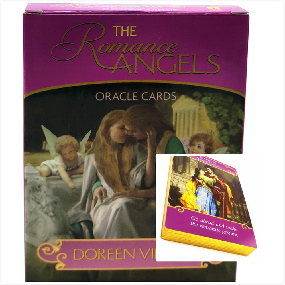 Golden English The Romance Angels Oracle Cards Read Fate Card Game Board Game Oracle Cards Tarot Deck For Personal Use
