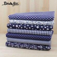 Booksew 7 шт темно синий 50 см x fat кварталы Хлопок Ткань для
