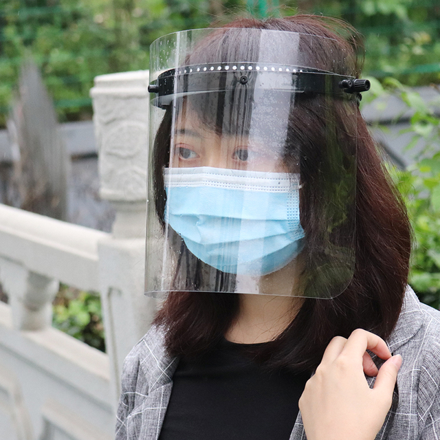 Anti-Saliva Windproof Dust proof Face Mask Transparent PVC Safety Face Shield Screen Spare Visors 4