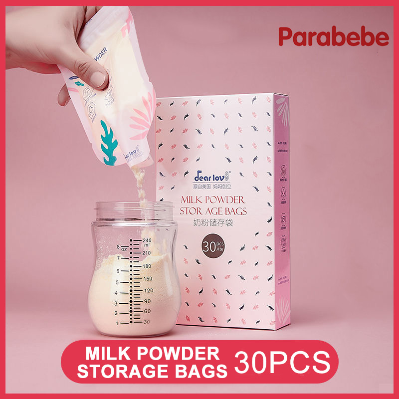 30PCS Milk Powder Bags Disposable Portable Storage Bag Go Out for Baby Pack Food Storage Boxes Milk Powder Boxes Container