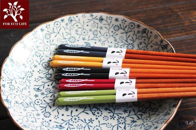 Фото японские деревянные палочки для еды saury домашние высококачественные