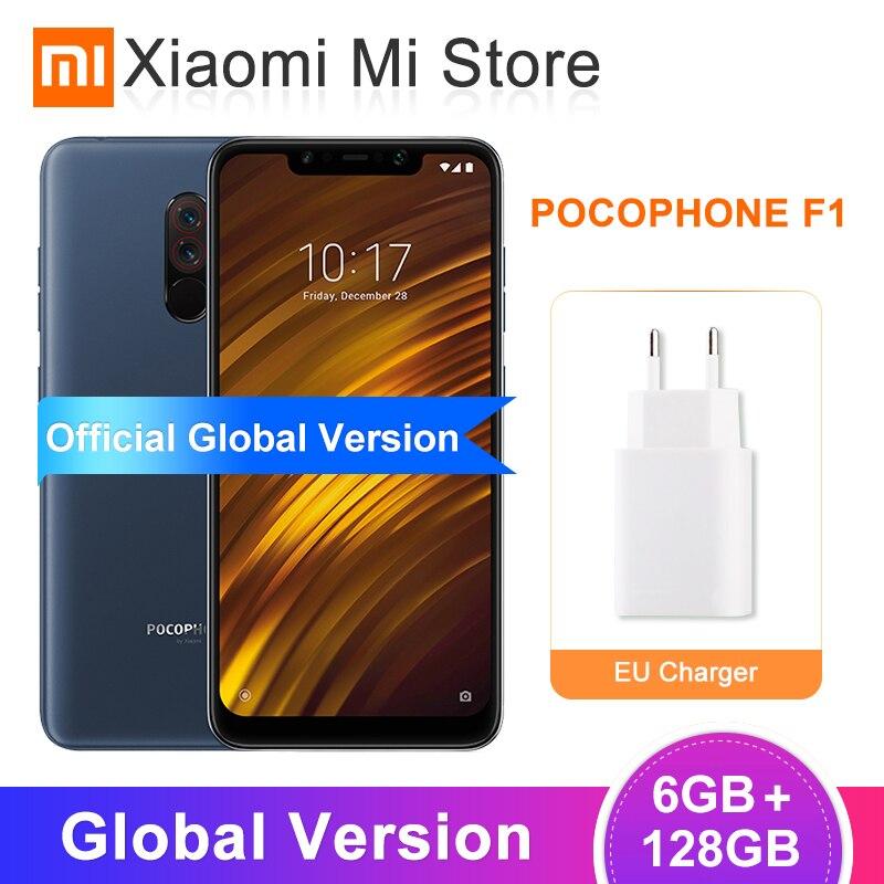 Global Versão Xiaomi POCOPHONE F1 6GB 128GB Telemóvel Snapdragon 845 20MP Frente Camera 6.18