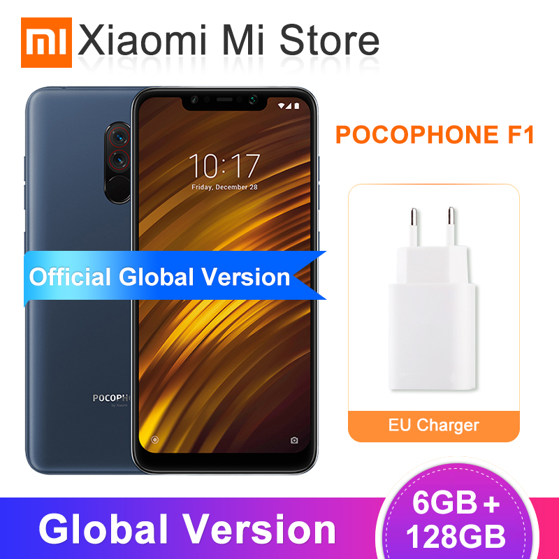 Global Version Xiaomi POCOPHONE F1 6GB 128GB Mobile Phone Snapdragon 845 20MP Front Camera 6.18