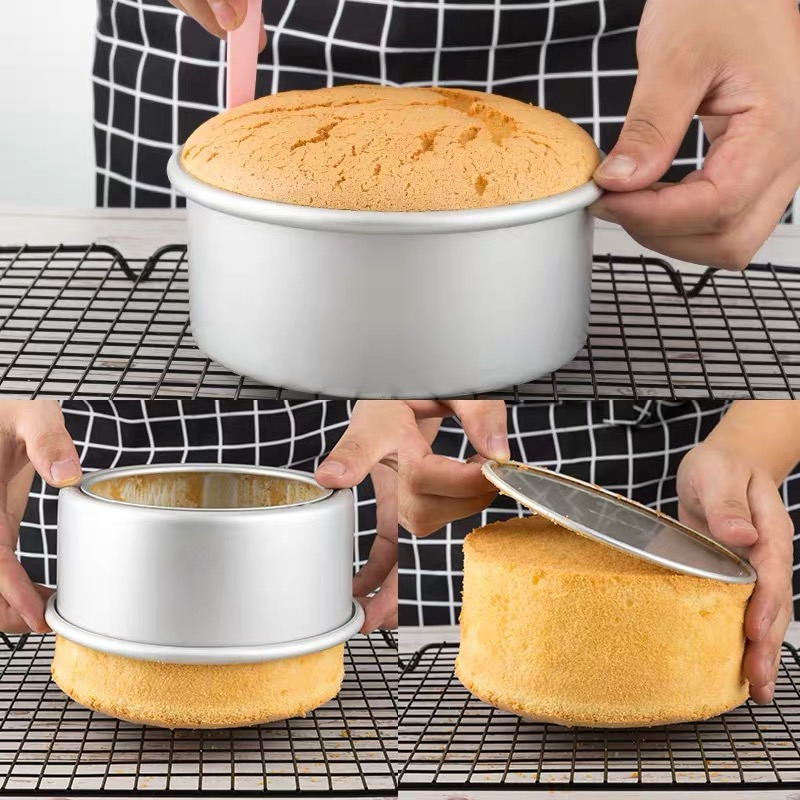 2/4/6/8/10 Inch Round Live Bottom Cake Mold Baking Mold Bread Decoration Non-stick Home Kitchen Oven Baking Tool Tray 1PCS