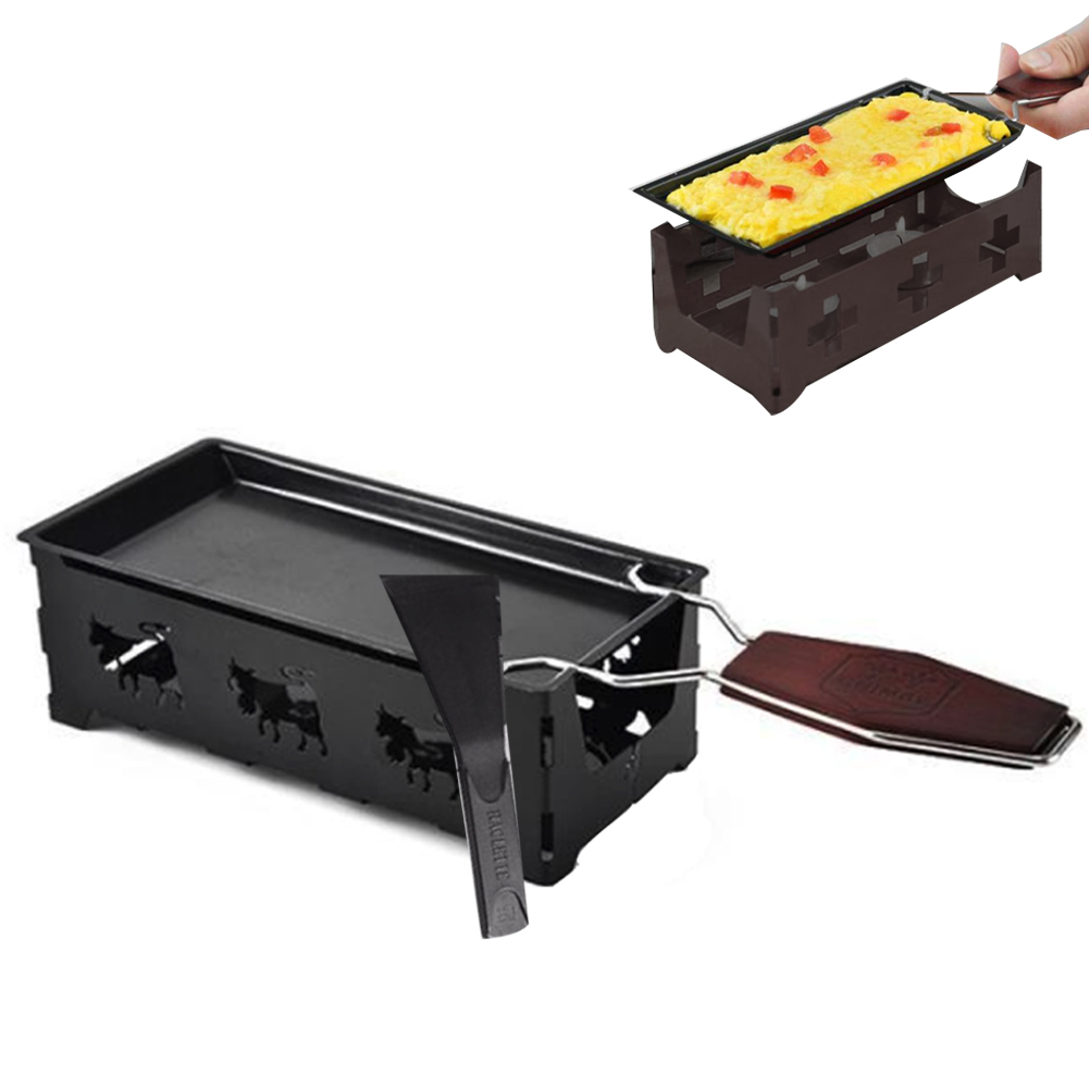 Portable Rotaster Baking Tray Stove Set Milk Cheese Non-Stick Metal Cheese Raclette Oven Grill Plate Kitchen Baking Tools image