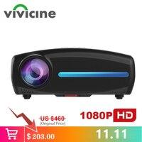 Vivicine S2 новейший проектор 1080 p, опция Android 9,0 HDMI USB PC 1920x1080 Full HD светодиодный проектор для домашнего кинотеатра