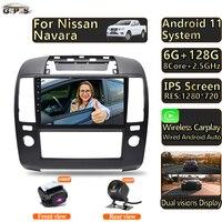 Autoradio Video lettore multimediale per Nissan Navara 3 D40 2004 - 2010 Android 11 navigazione GPS Autoradio Touchscreen Audio