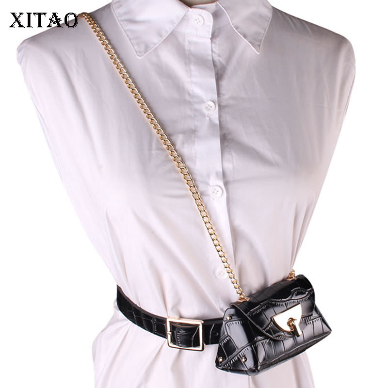 XITAO Fashion Trend Cummerbunds Fashion New Women Versatile Decorative Chain Patchwork Casual Style New 2020 Spring ZLL4982
