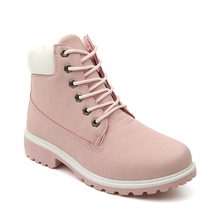 Autumn Winter Boots Women Shoes 2019 Fashion Solid Flats Sneakers Women Snow Boots Women Lace-up Ankle Boots Casual Shoes Woman стоимость