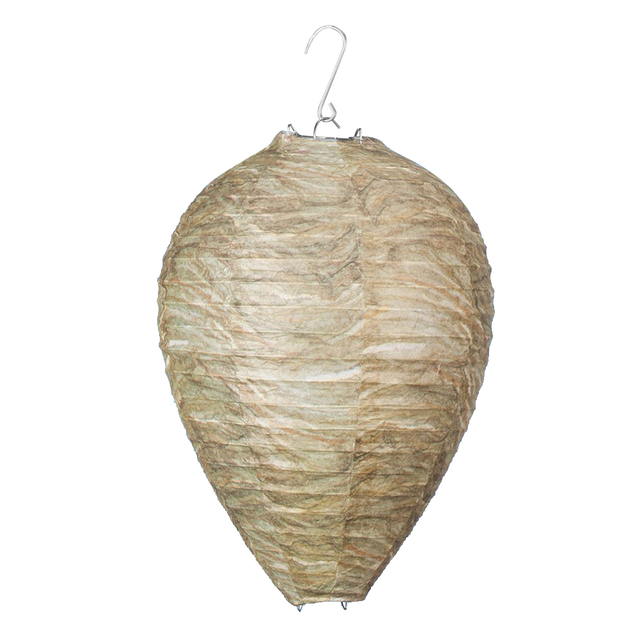 11x8.7 inch Eco Friendly Hanging Wasp Deterrent Non-Toxic Hornet Wasp Nest Decoy Romantic Holiday Lights Outdoor Lighting