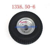 2PCS Super High Performance GO KART KARTING ATV UTV Buggy 13X6.50 6 Inch Wheel 13*6.50 6 Tire with Hub