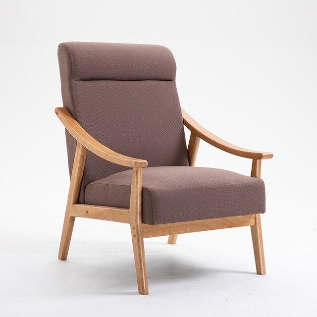 Solid Wood Sofa Armchair  5