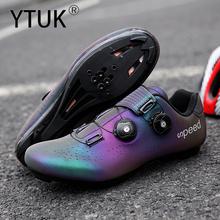 YTUK profesjonalne sportowe buty do jazdy na rowerze MTB obuwie rowerowe mężczyźni samoblokujące buty rowerowe sapatilha ciclismo damskie buty rowerowe buty rowerowe tanie tanio latex NYLON Dla dorosłych Oddychające Oświetlony Cotton Fabric Średnie (b m) Hook loop Pasuje prawda na wymiar weź swój normalny rozmiar