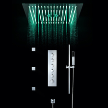 Bathroom Shower Faucets Accessories 16 Inch Head Ceiling Rainfall Shower, Misty, Small Rain Panel Thermostatic