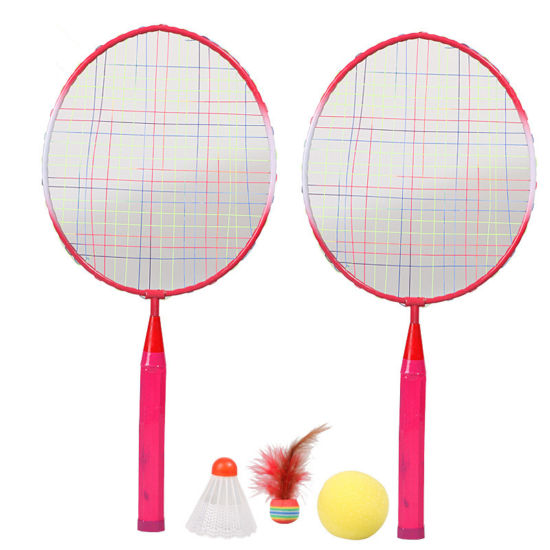 1 Pair 45cm*21cm Kids Badminton Racket Children Mini Battledore Outdoor Sport Game Toy