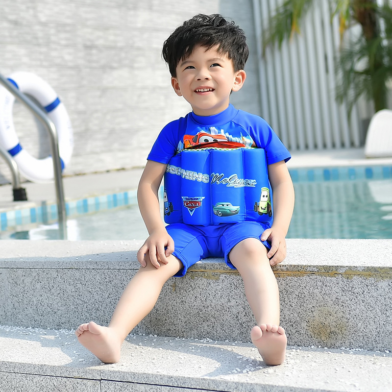 CHILDREN'S Swimwear Floating Buoyancy Bathing Suit Small CHILDREN'S Big Boy BOY'S Beach Swimming Cap Hot Springs Life Jacket Bub