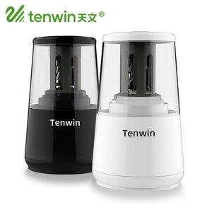 Image 1 - Tenwin kırtasiye otomatik elektrikli kalemtıraş USB ağır hizmet mekanik konteyner ile çocuklar için pil Ten Win