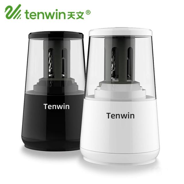 Tenwin kırtasiye otomatik elektrikli kalemtıraş USB ağır hizmet mekanik konteyner ile çocuklar için pil Ten Win