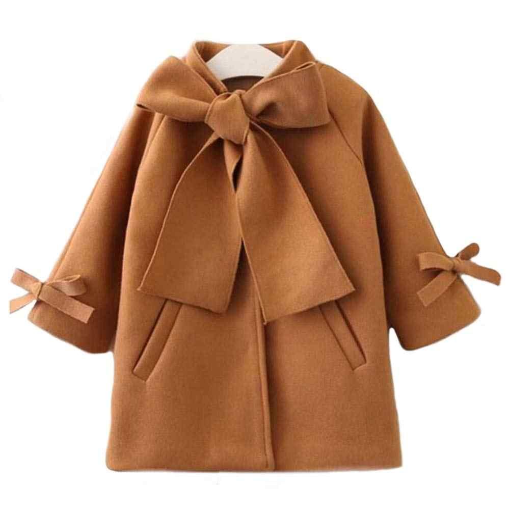 秋冬幼児の子供の女暖かいちょう生き抜くジャケットパーカーブラウン秋冬トップ