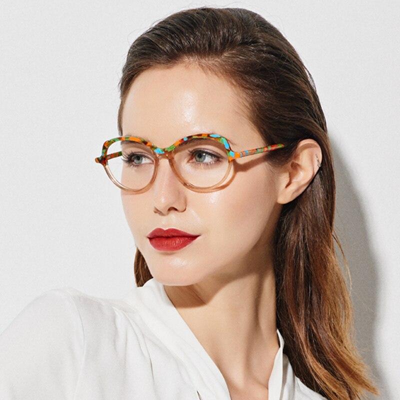 SASAMIA Eyeglasses Frame Women Vintage Eye Glasses Prescription Glasses Frames Myopia Eyeglass Frame For Women Trends