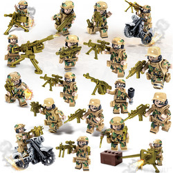 Mini Military Vehicle Soldier Weapon Toys Bricks Building Blocks Kids Boy Funny Game Assembly Educational Gift for Children