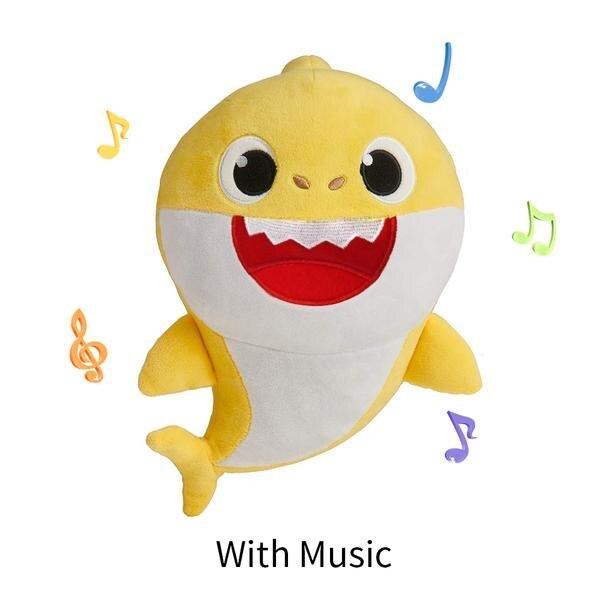 Baby Cartoon Shark Soft Shark Doll Stuffed Plush Toys Mommy Shark Daddy Shark Singing English Whole Song For 80 Seconds