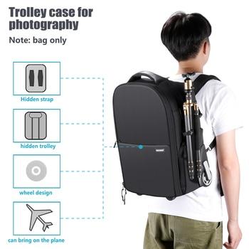 Neewer 2-in-1 Wheeled Camera Backpack Luggage  3