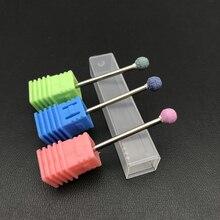 """1 шт. сферическое керамическое сверло для ногтей 3/3"""" Korund Burr сверла для маникюра аксессуары для ногтей инструмент для красоты фрезы"""